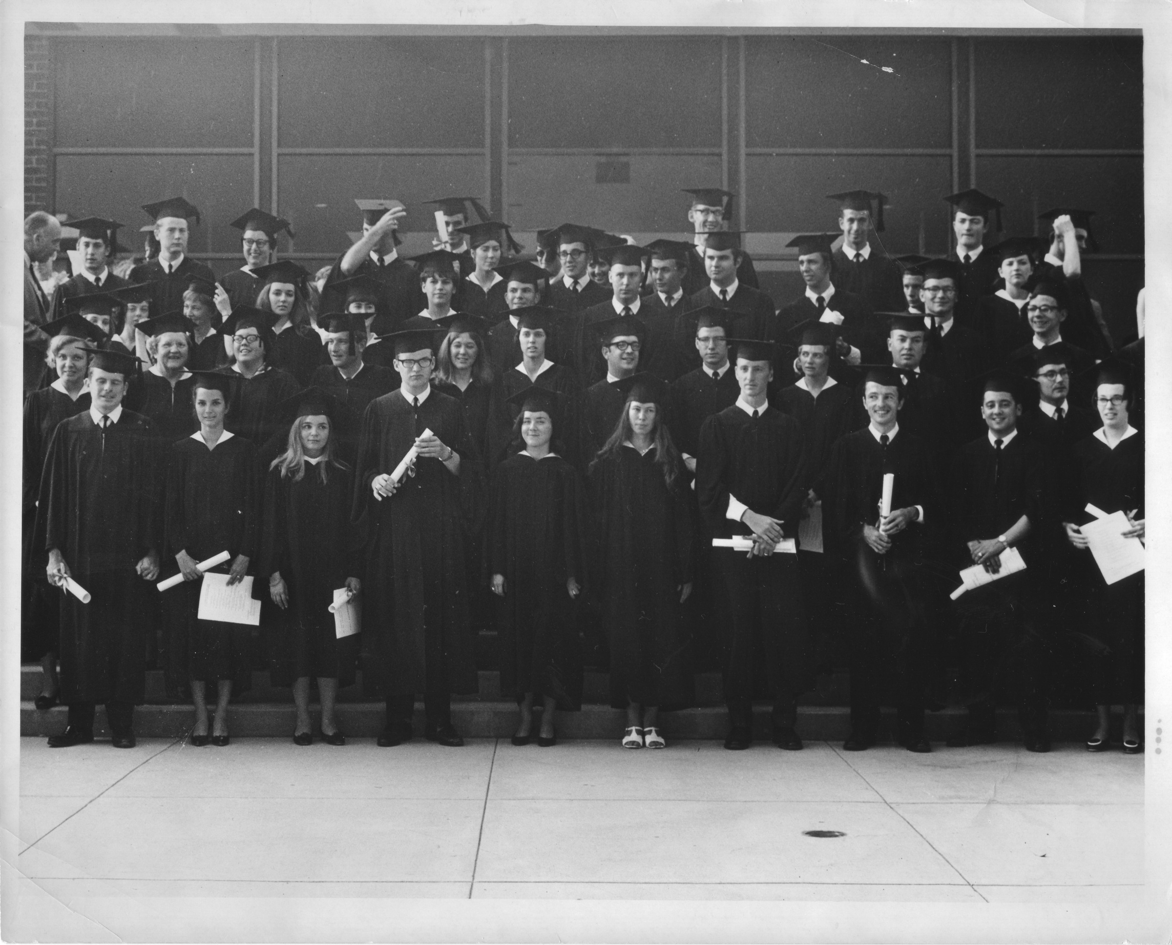 First graduating class, George Mason College, June 9, 1968