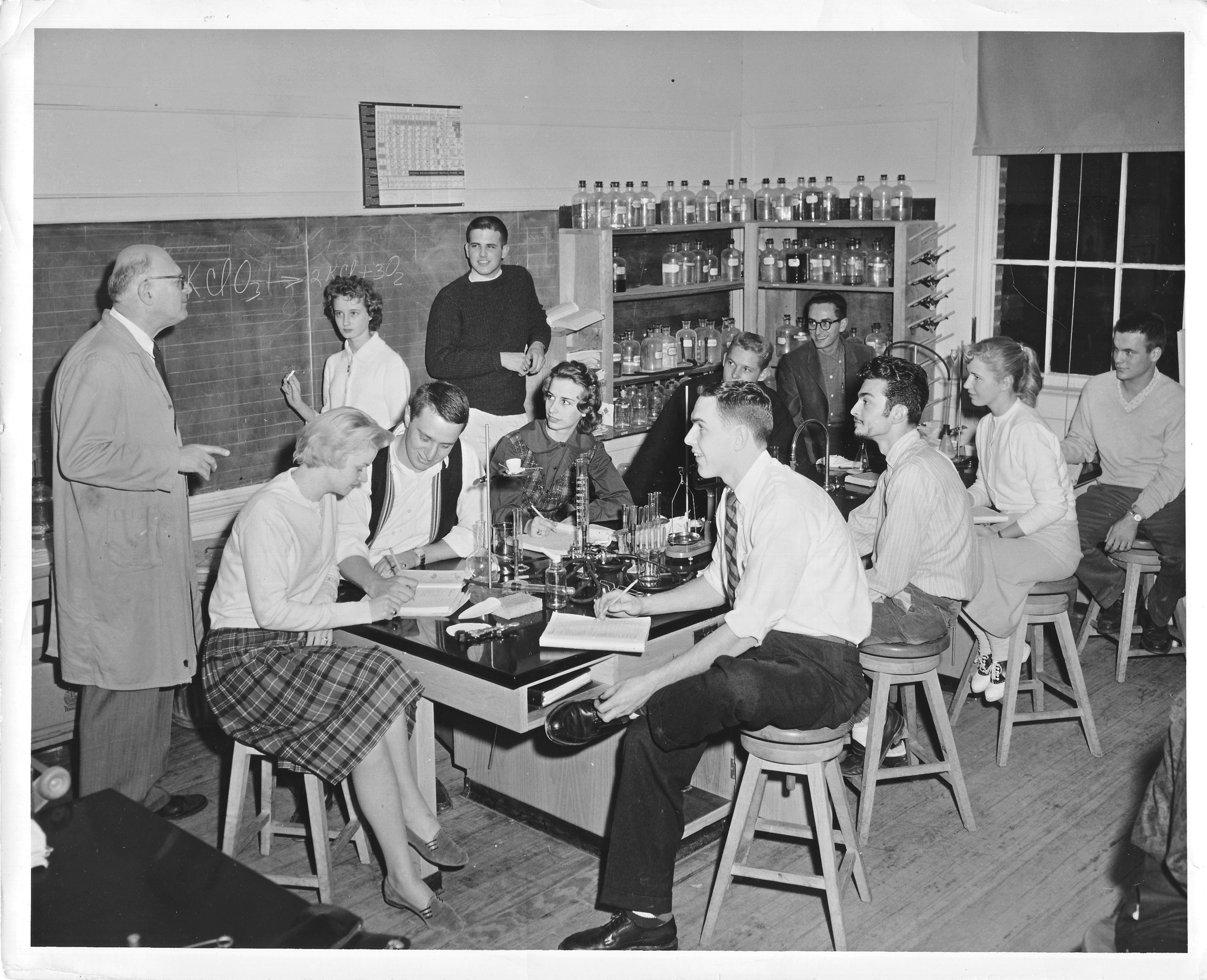 Laboratory, George Mason College, Bailey's Crossroads campus, 1963.