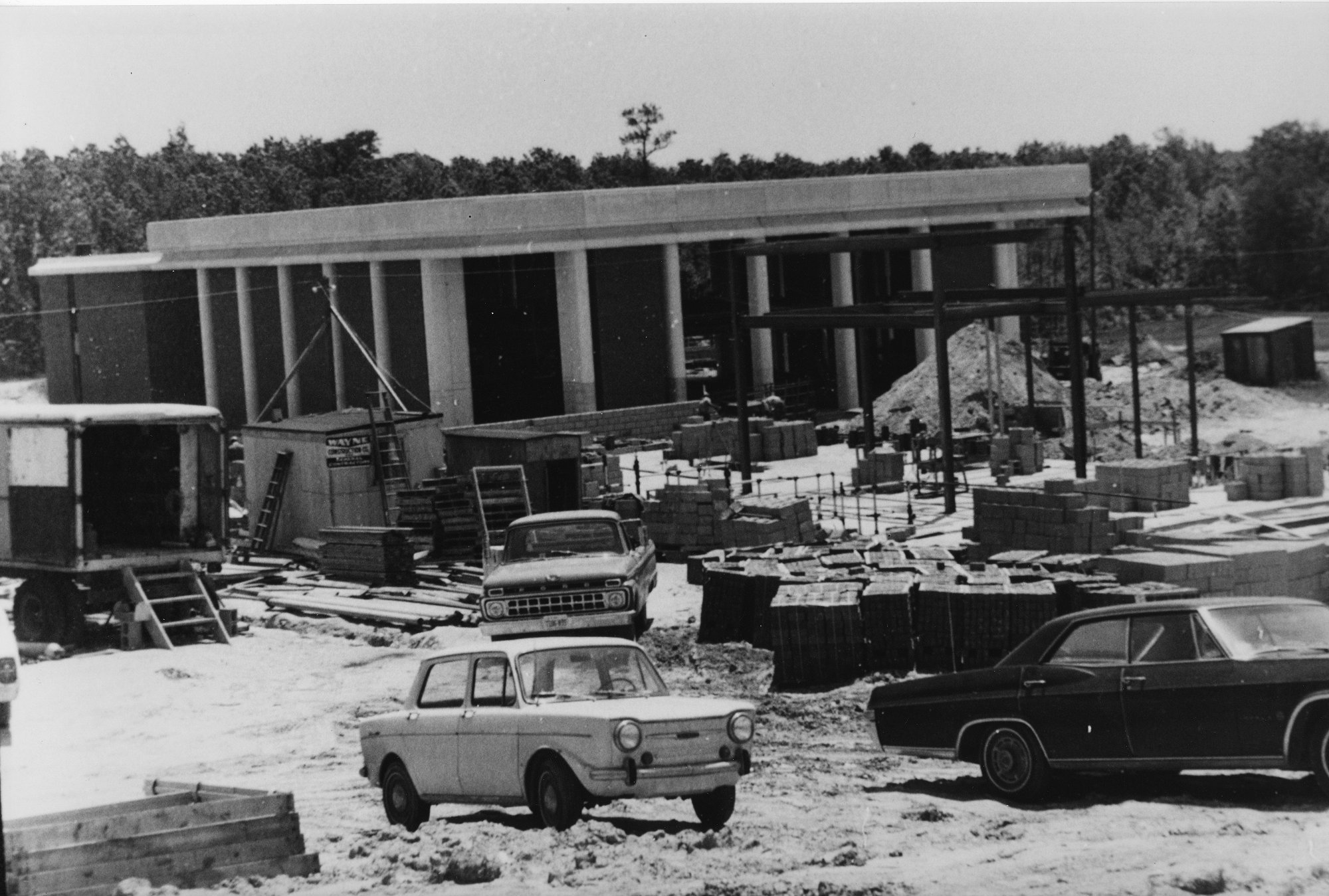 Lecture Hall construction, 1967