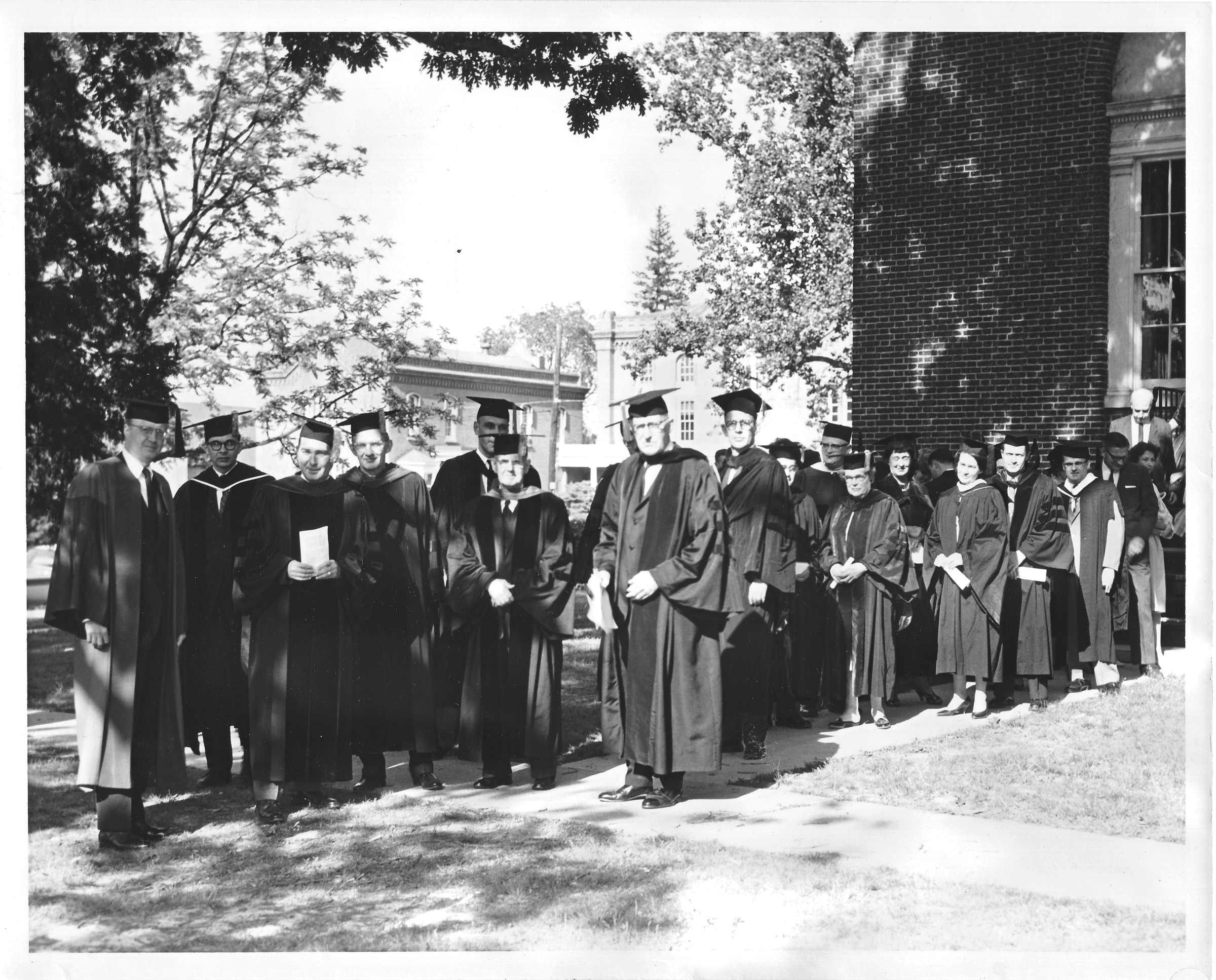 George Mason College faculty,  Convocation and Honor Court Ceremony, May 12, 1963.