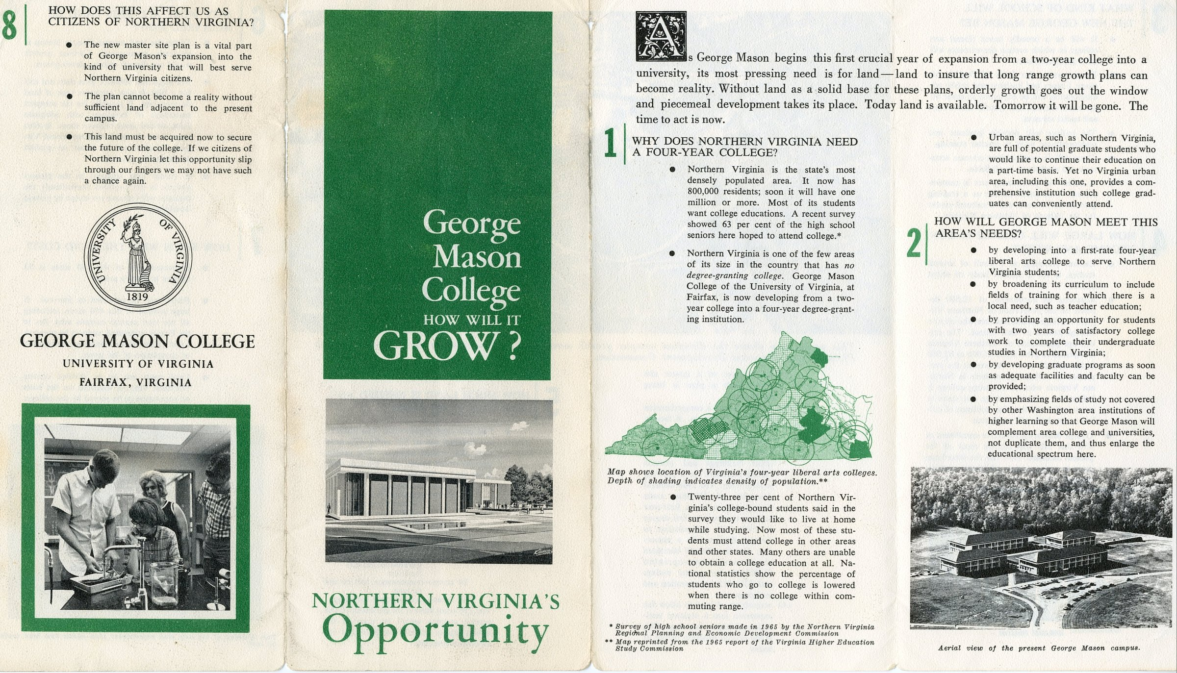 George Mason College: how will it grow?
