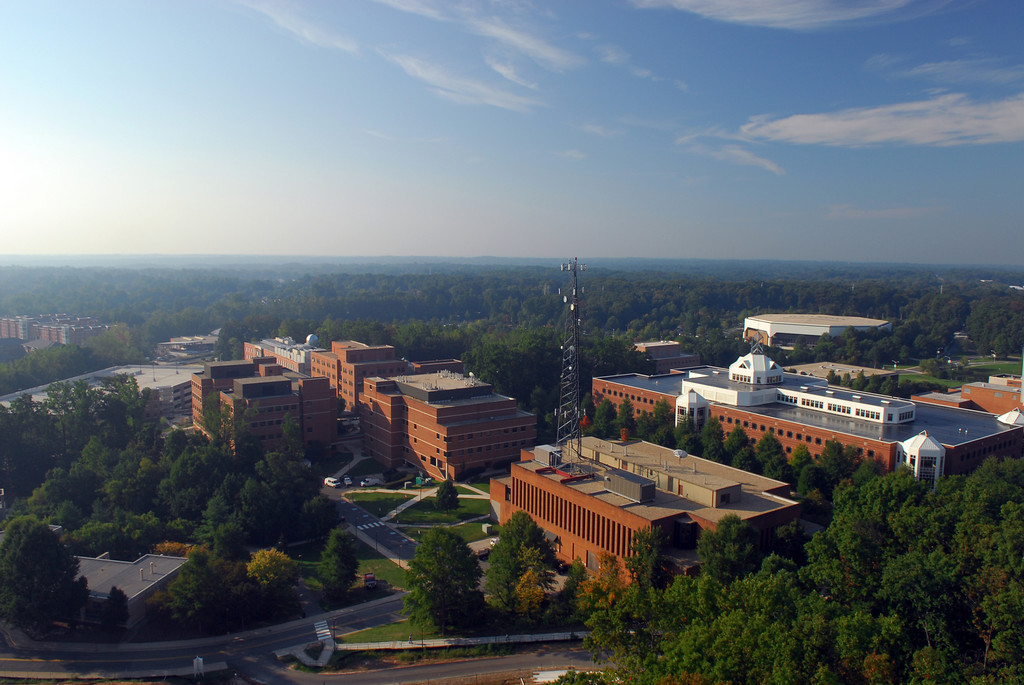 George Mason University, Fairfax campus, aerial photograph, 2007