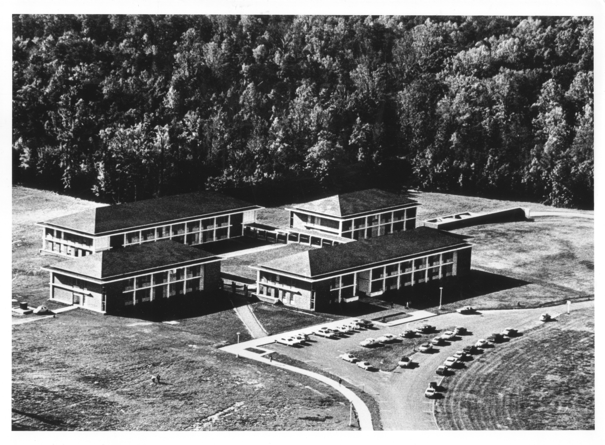 George Mason College, Fairfax Campus, ca. 1965, aerial photgraph