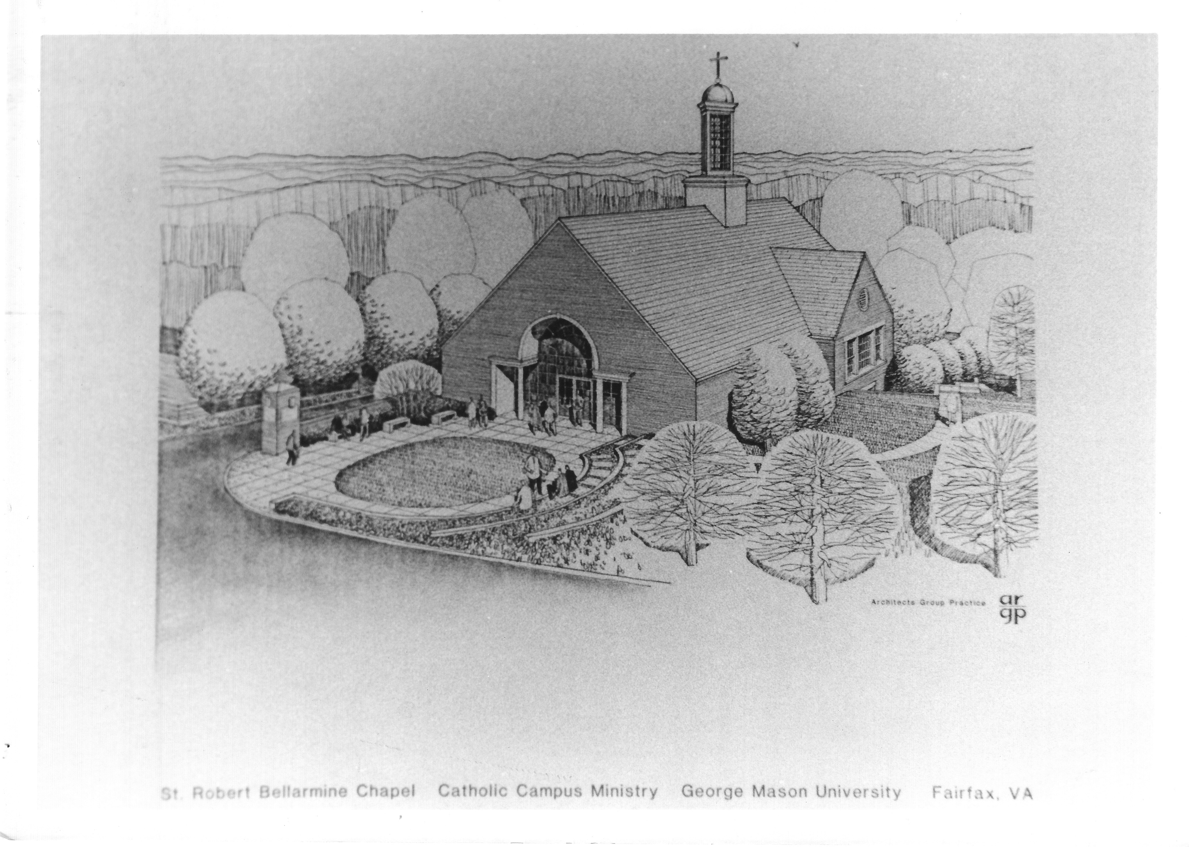 Architectural drawing, St. Robert Bellarmine Chapel, 1993