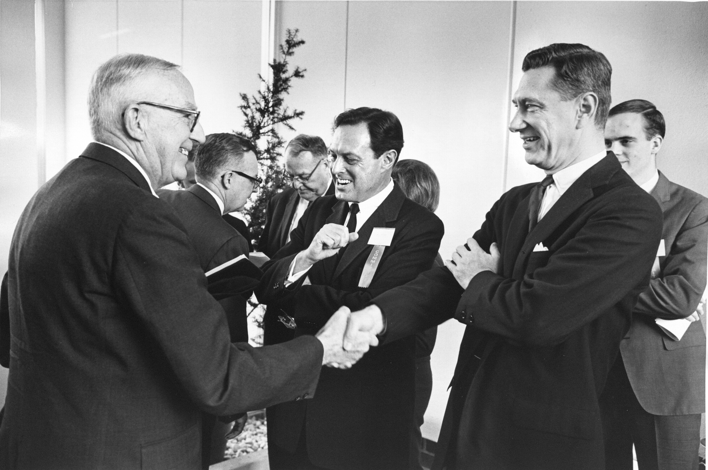 Reception, George Mason College Dedication, Fairfax, Va., November 12, 1964.