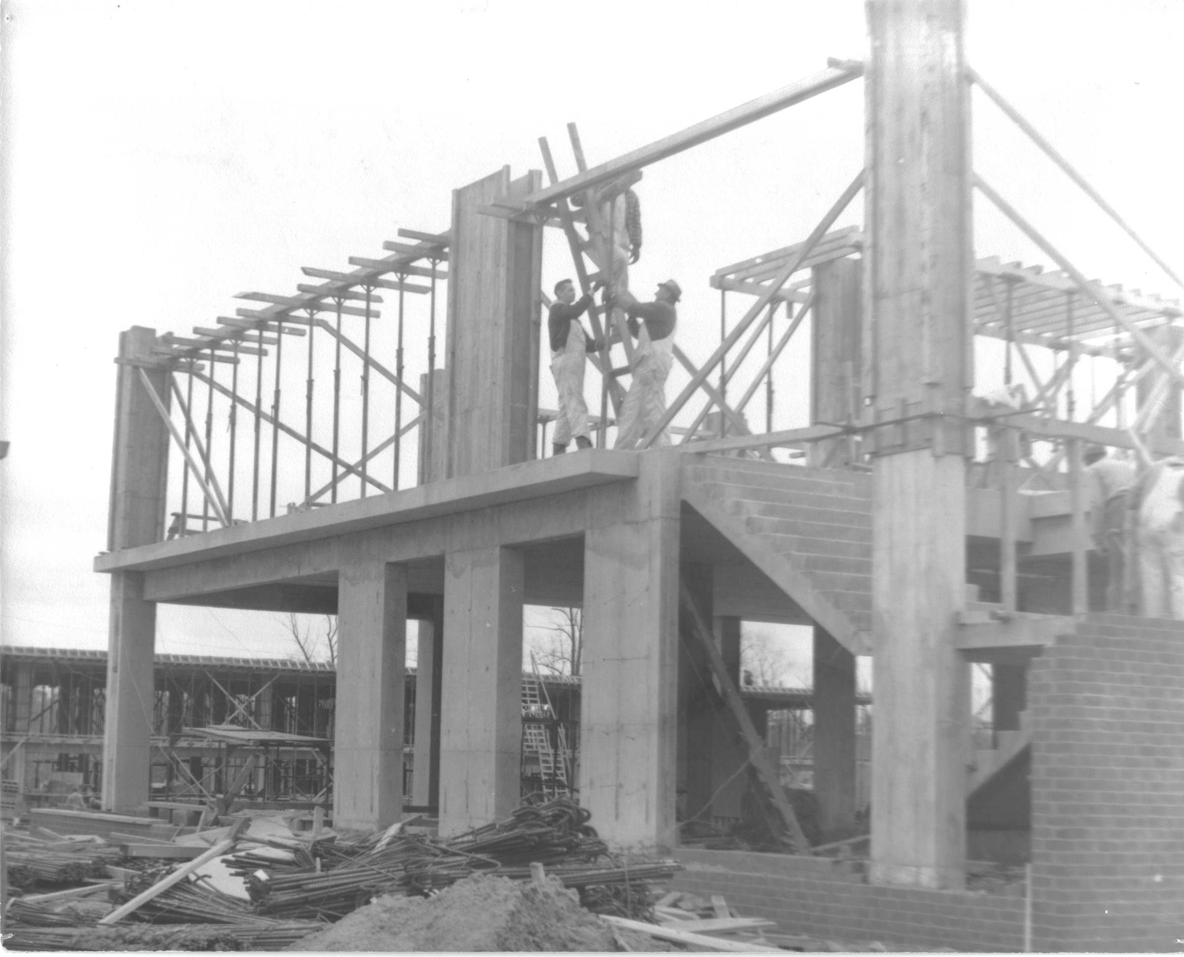 North Building, construction, February 7, 1964
