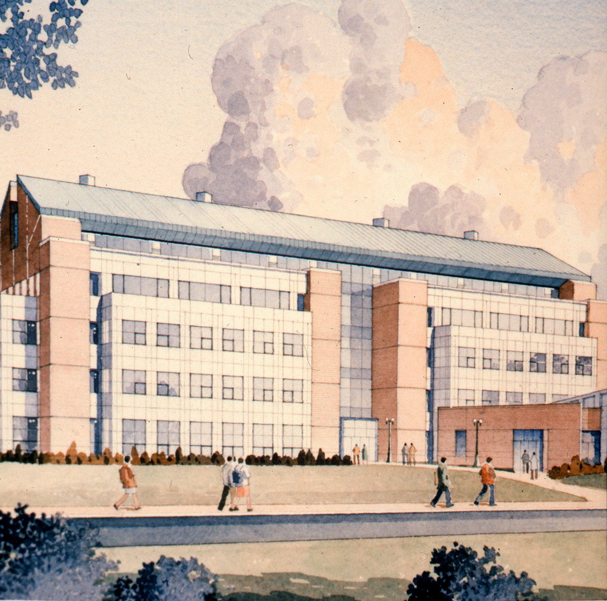 Architectural drawing, Academic I, Prince William Institute, 1994