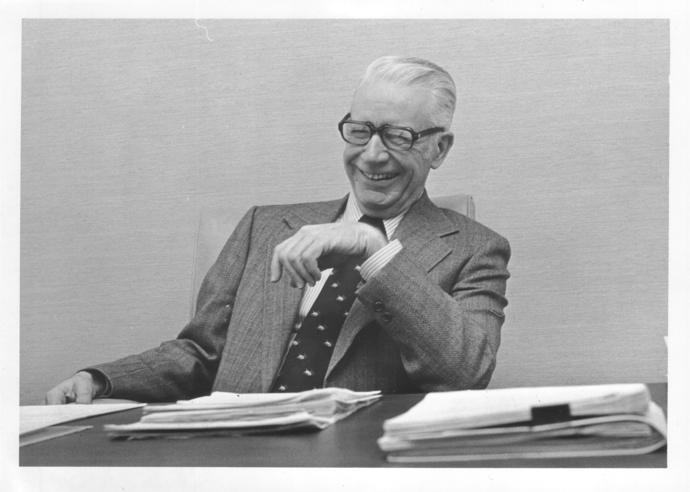 Dr. Robert C. Krug at his desk