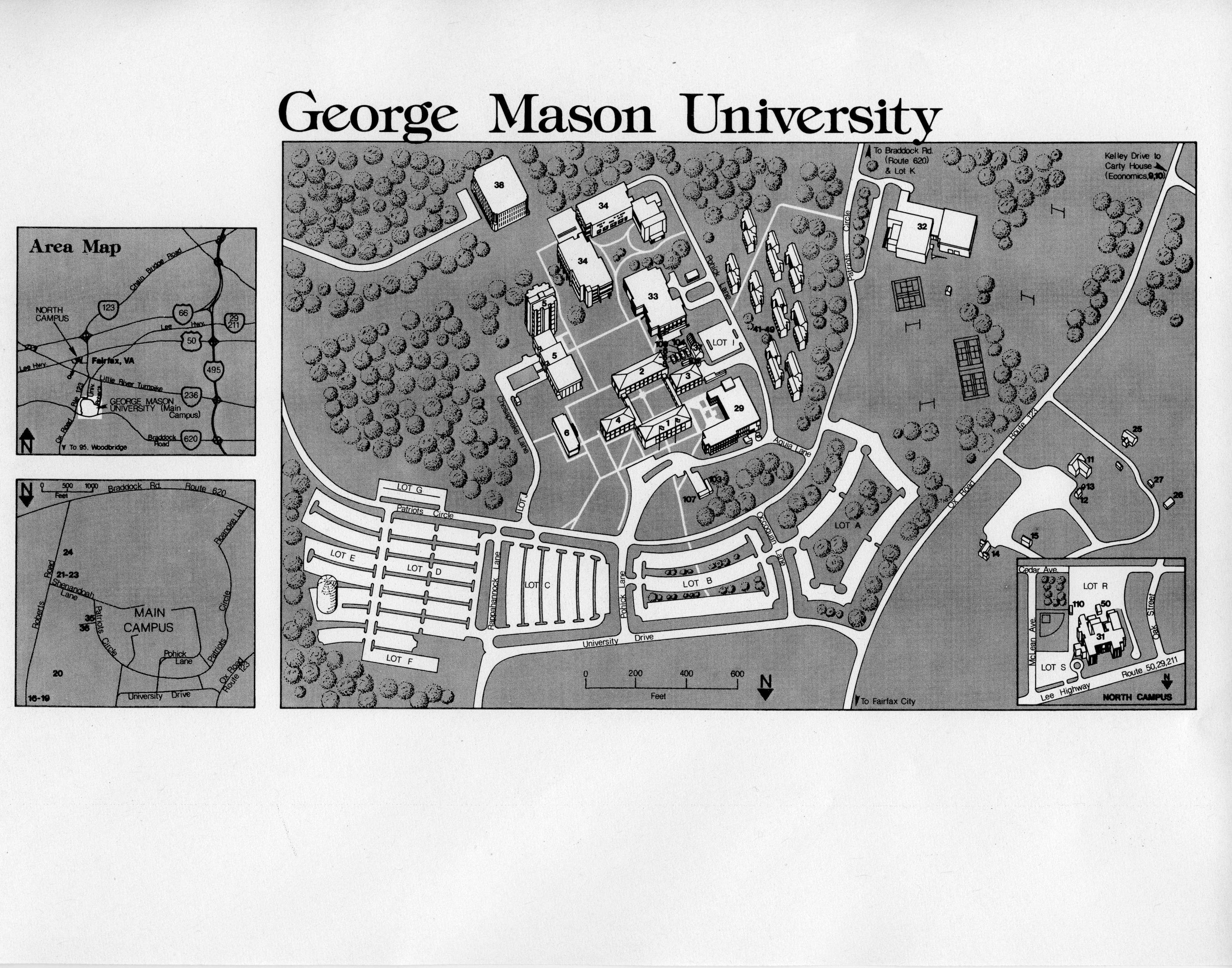 George Mason University, campus map, ca.1981