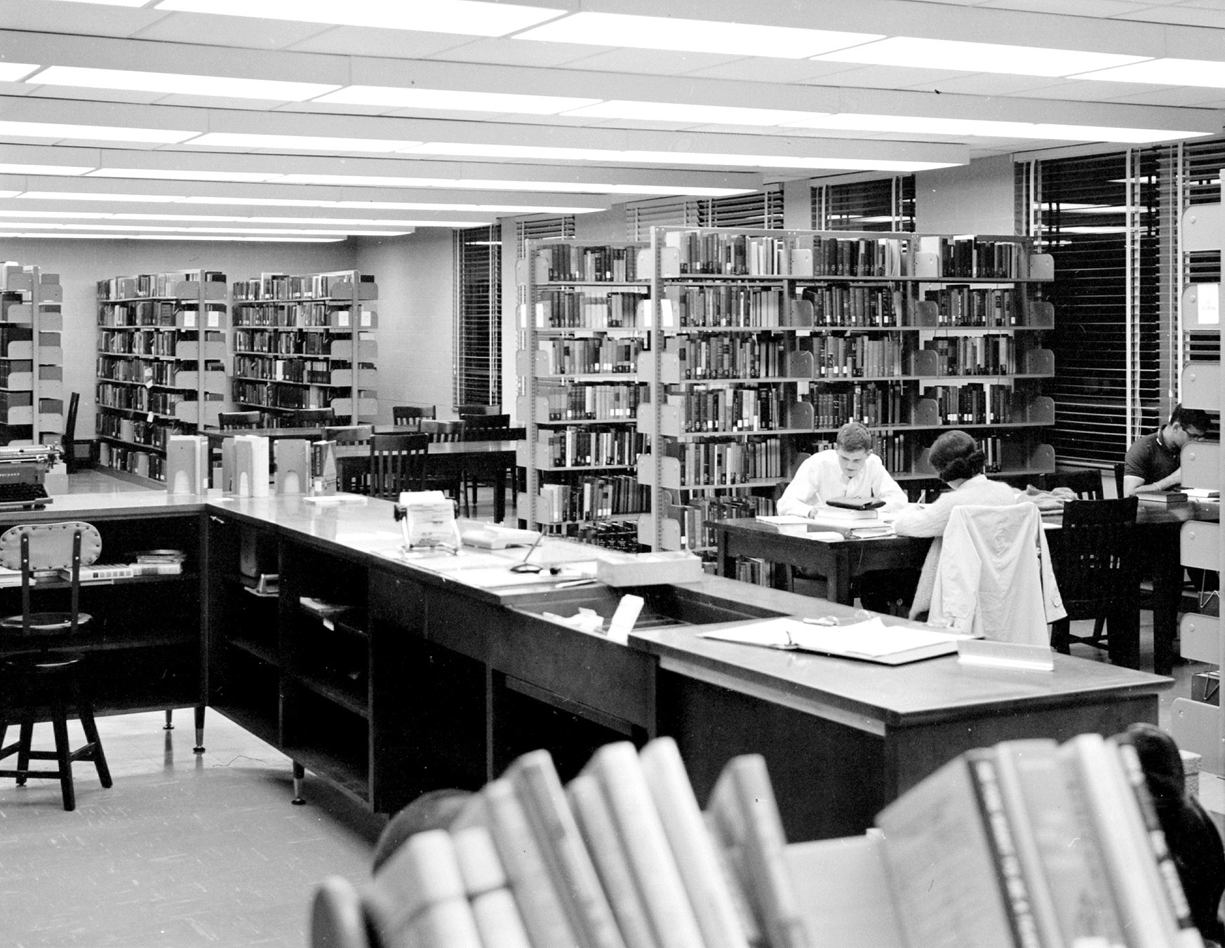 George Mason College Library, East Building, Fairfax campus, October 1965