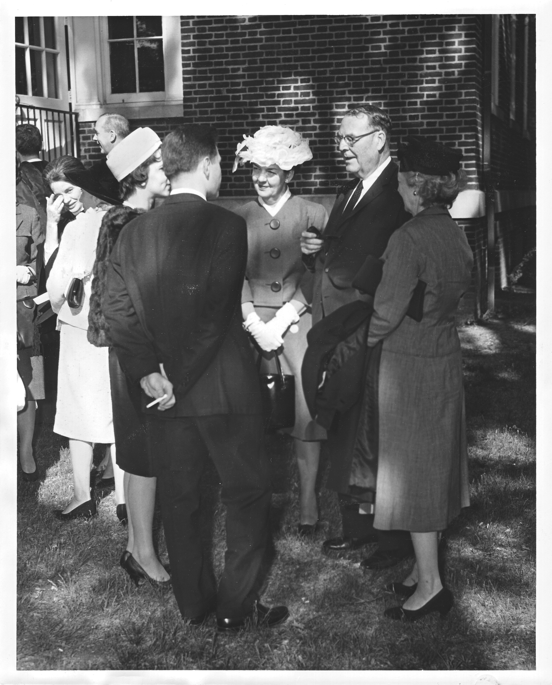 Senator Charles R. Fenwick at the George Mason College Convocation and Honor Court Ceremony, May 12, 1963.