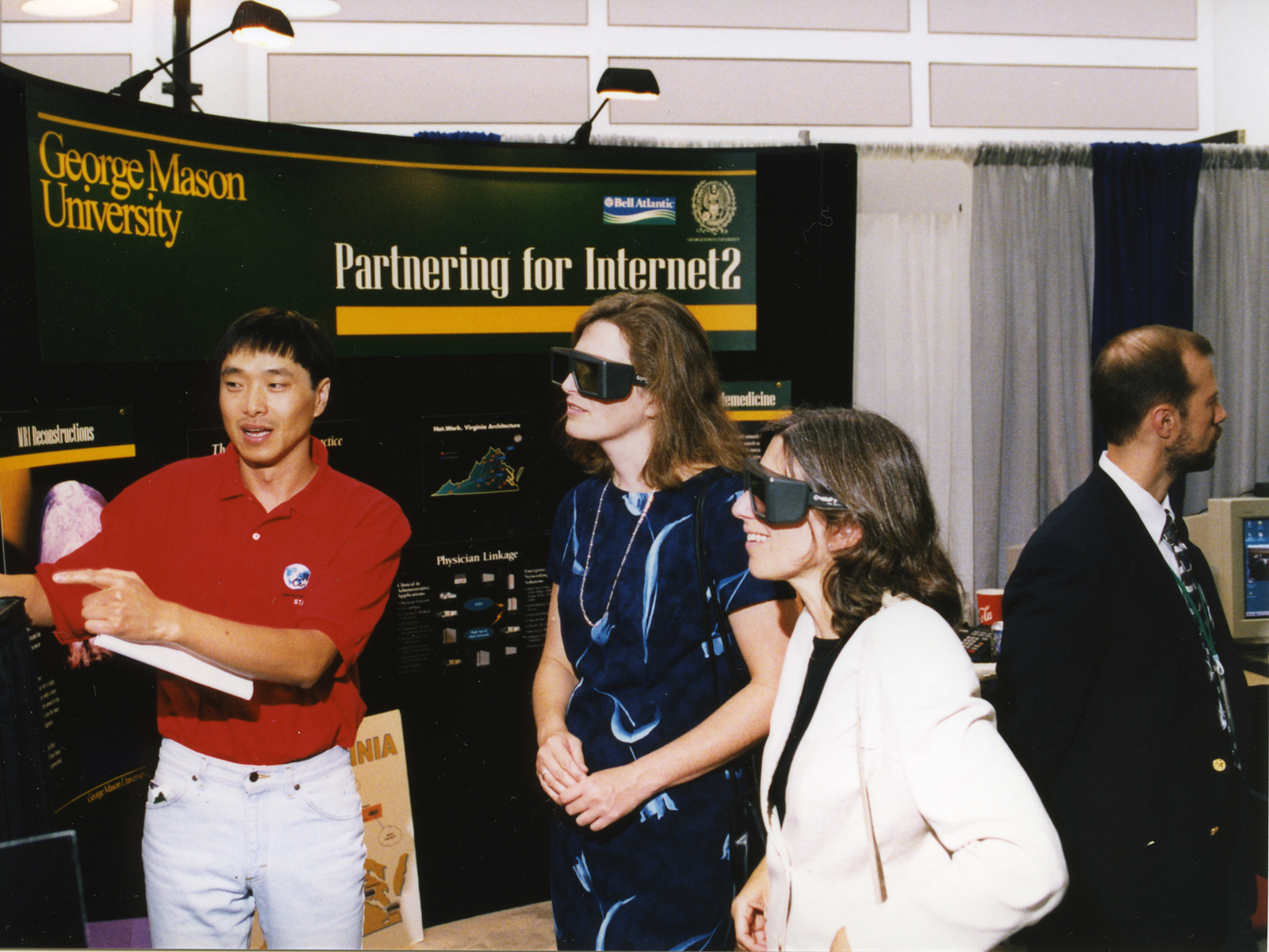 Virtual reality equipment demonstration, World Conference on Information Technology, George Mason University, 1998