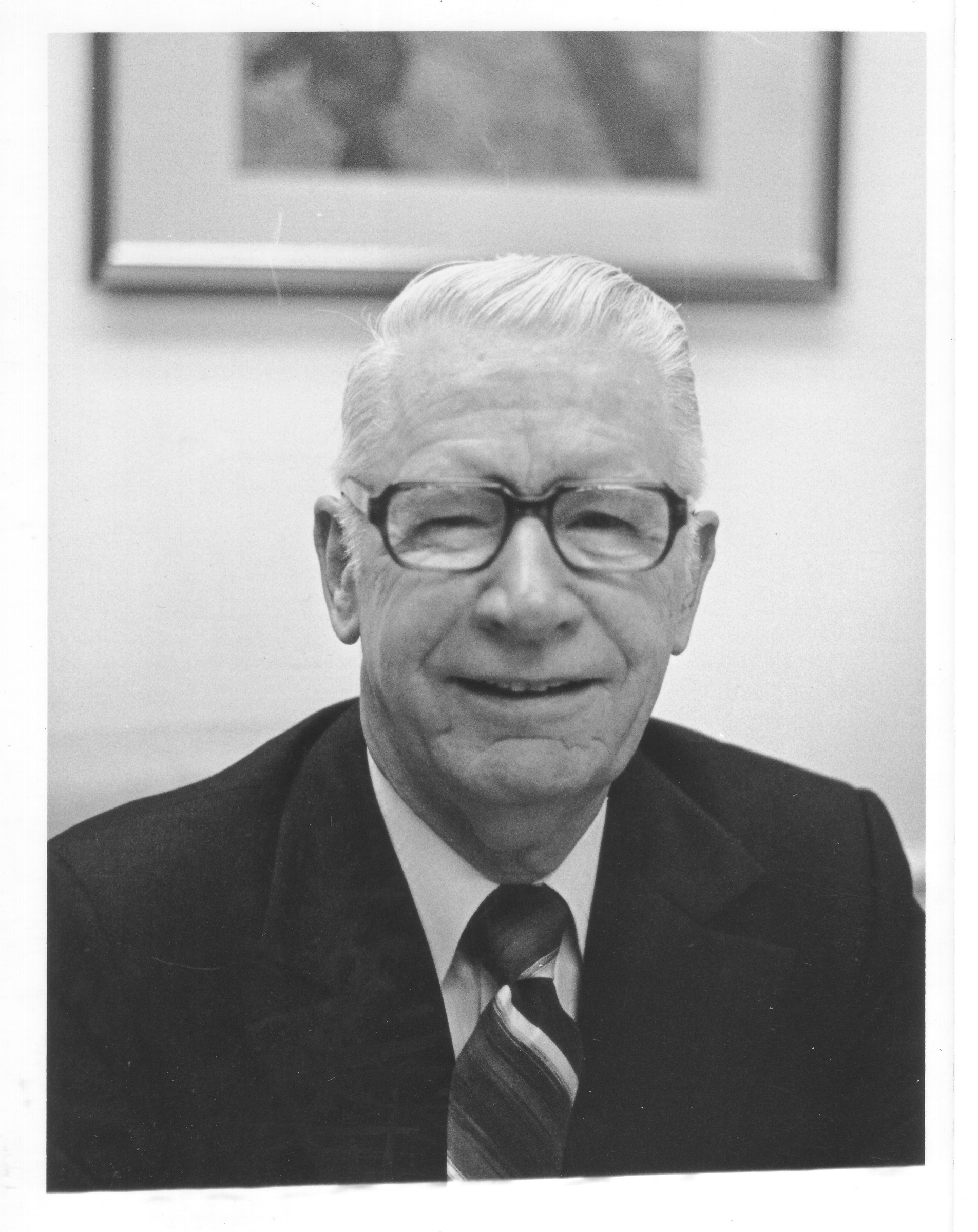 Dr. Robert C. Krug in his office