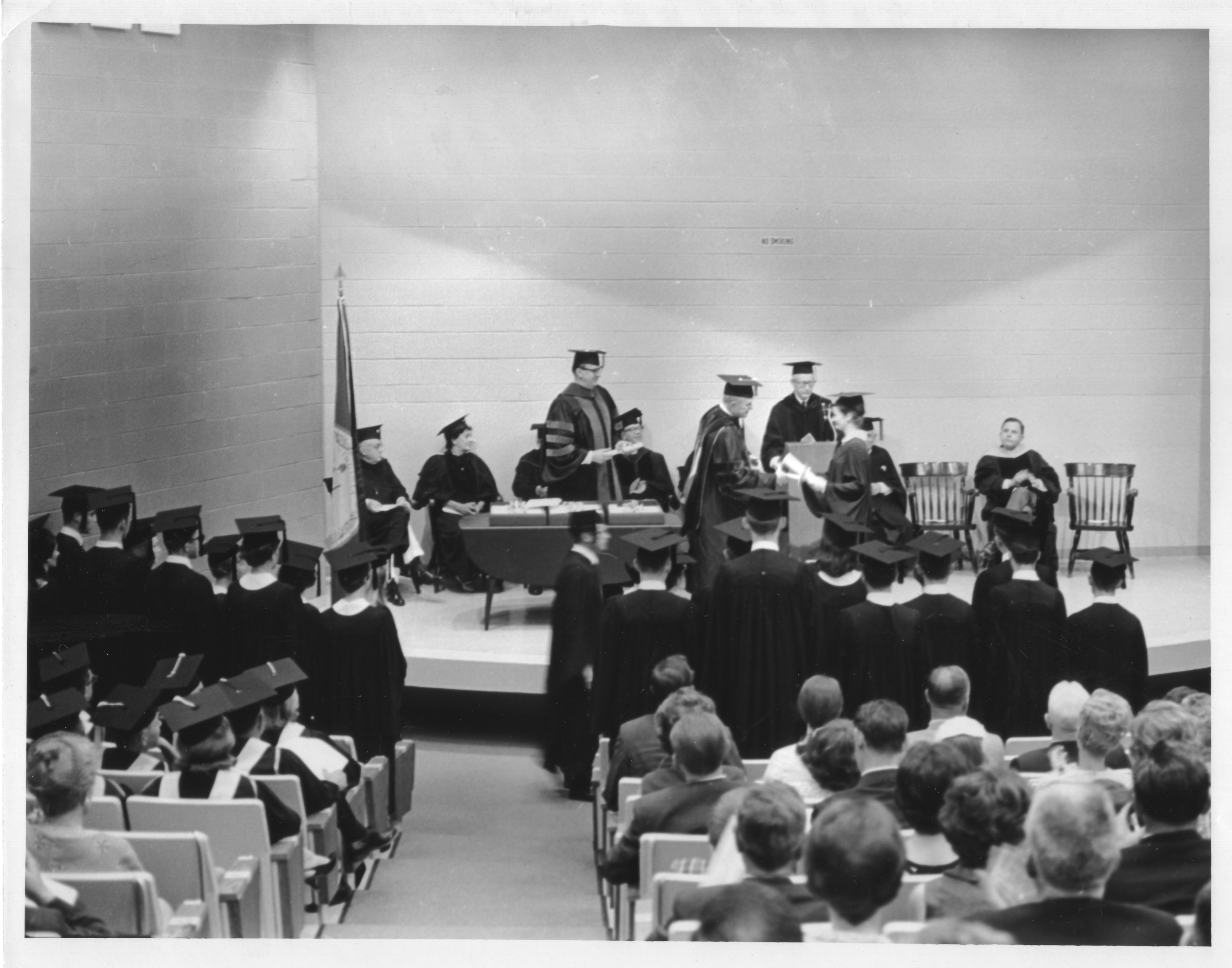 George Mason College Commencement ceremony, Lecture Hall, June 9, 1968