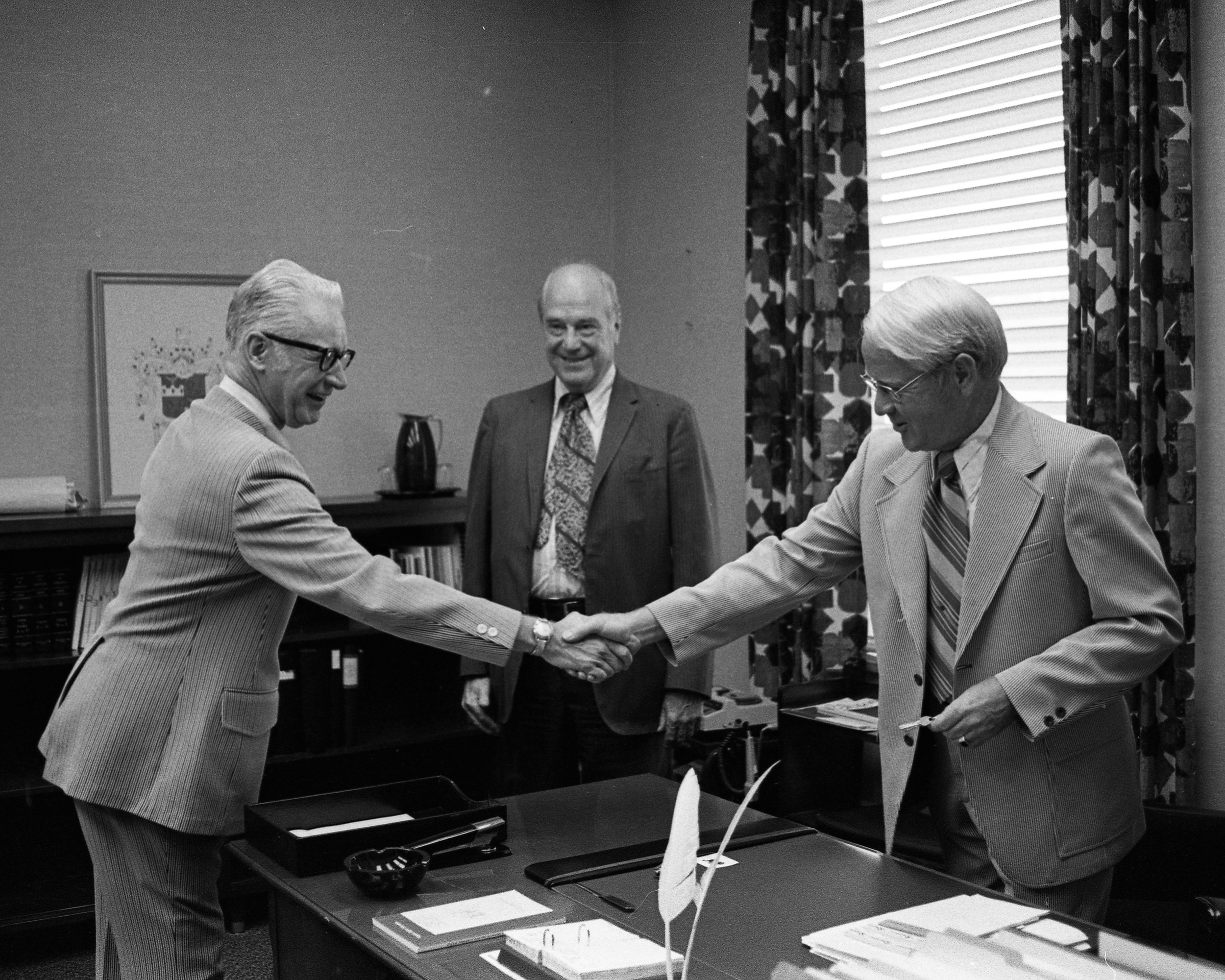 Vergil H. Dykstra assumes the presidency of George Mason University, July 2, 1973
