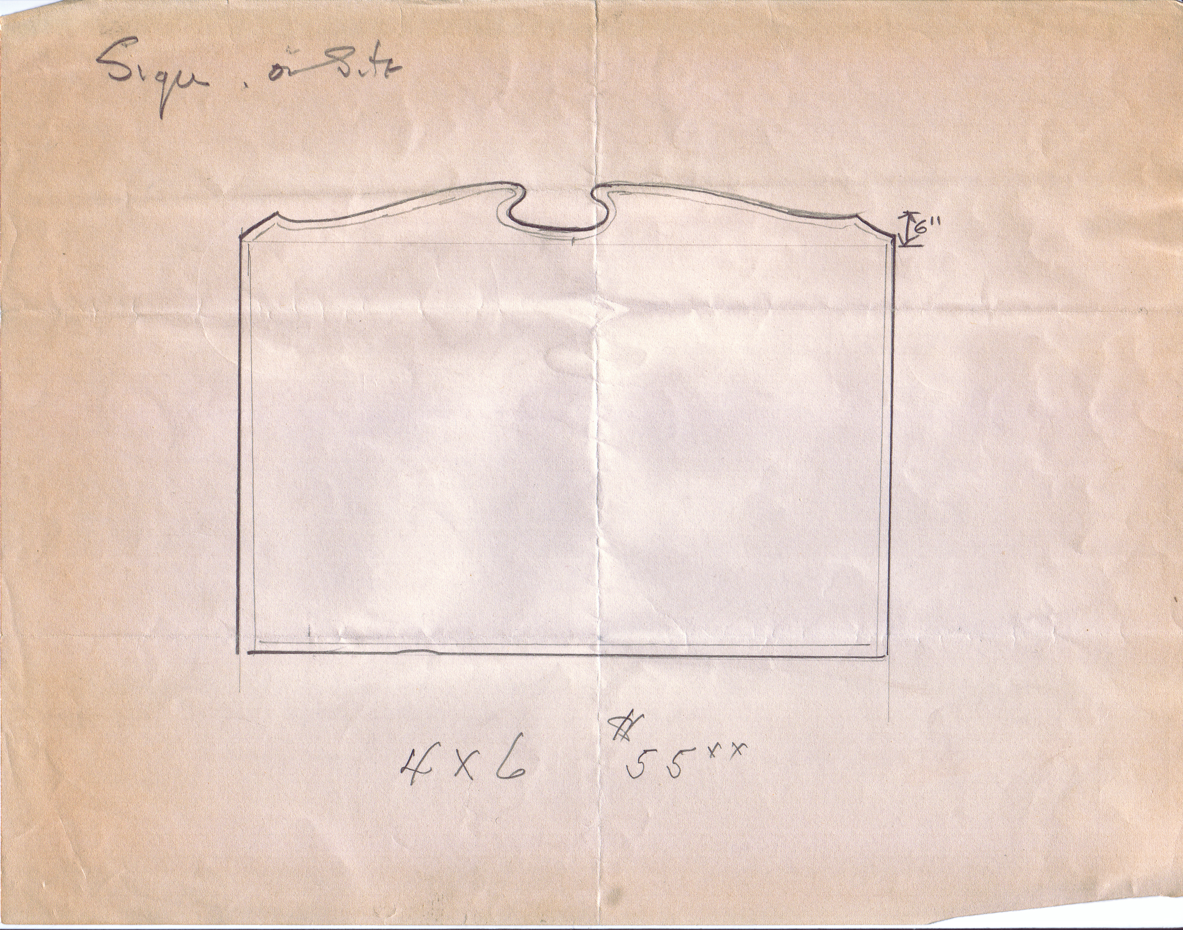 Sign on site [hand drawn sketch of sign to mark the construction of George Mason College at Fairfax, no date].