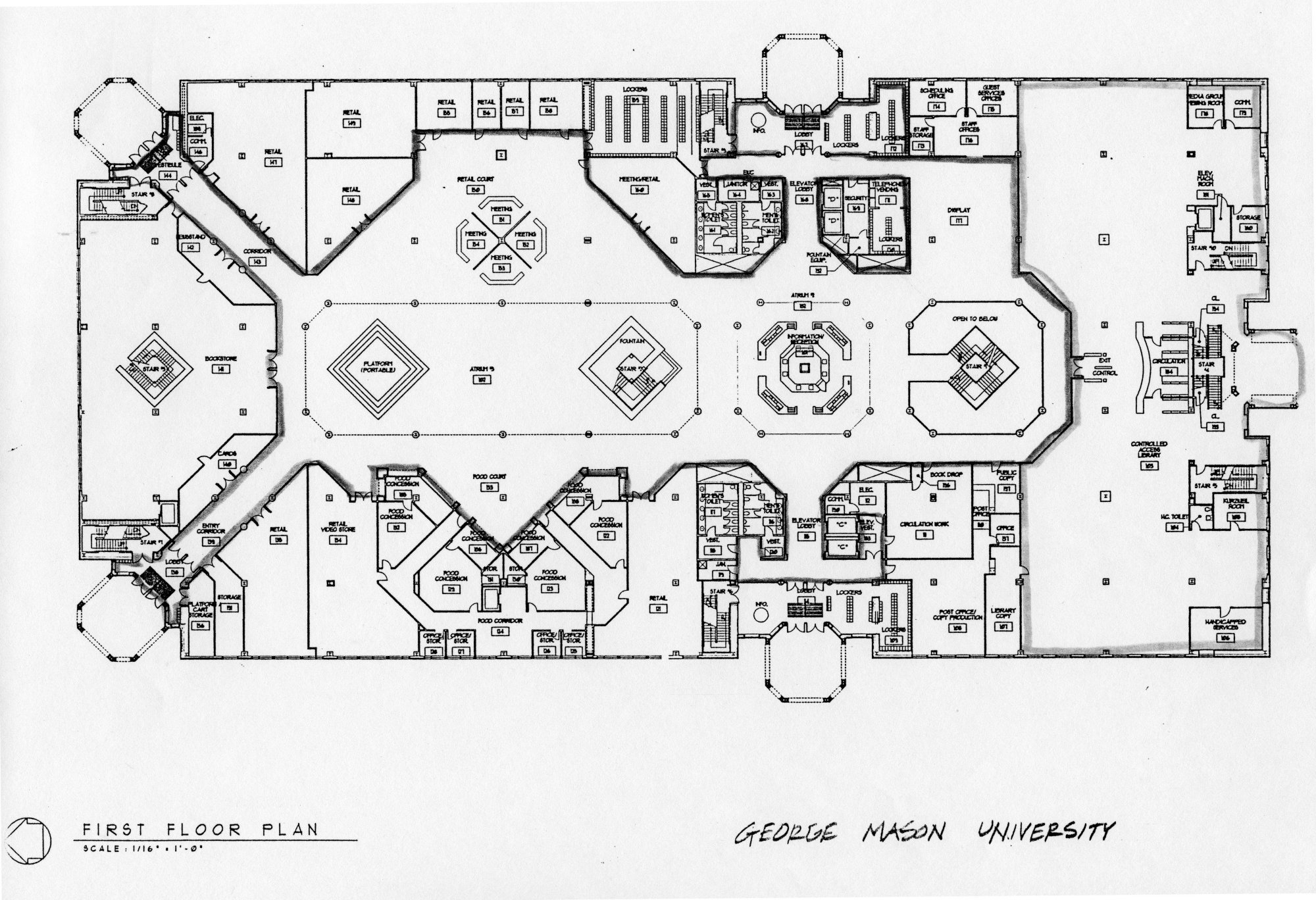 First floor plan, University Learning Center, ca. 1993