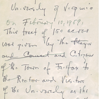 J.N.G. Finley to Joseph L. Vaughan, January 30, 1962 and notes