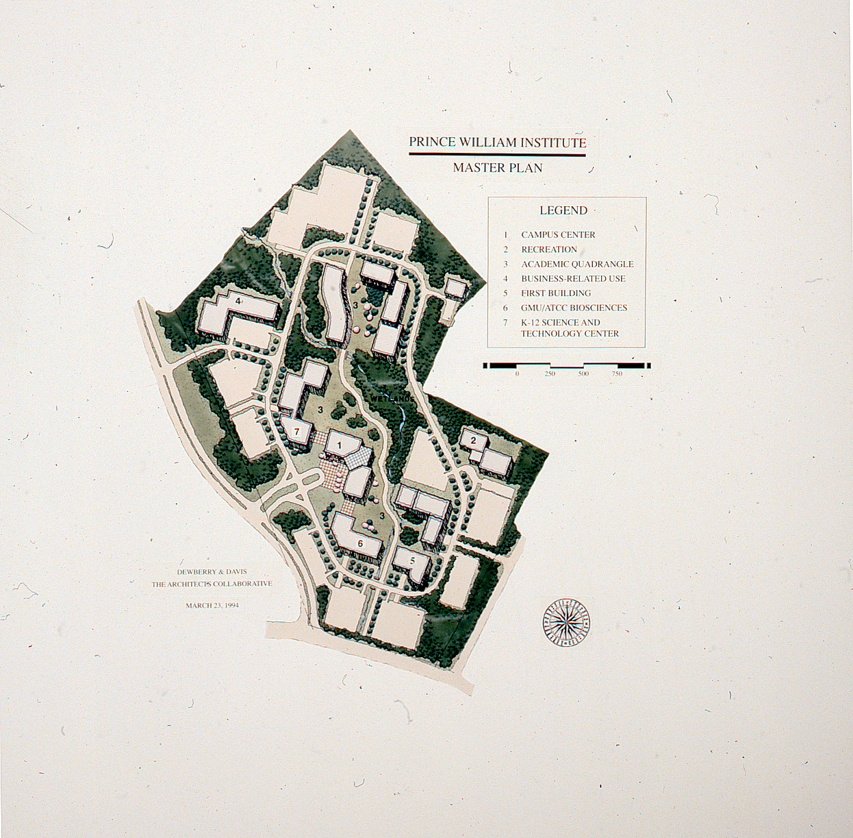 Prince William Institute, Master Plan, March 23, 1994