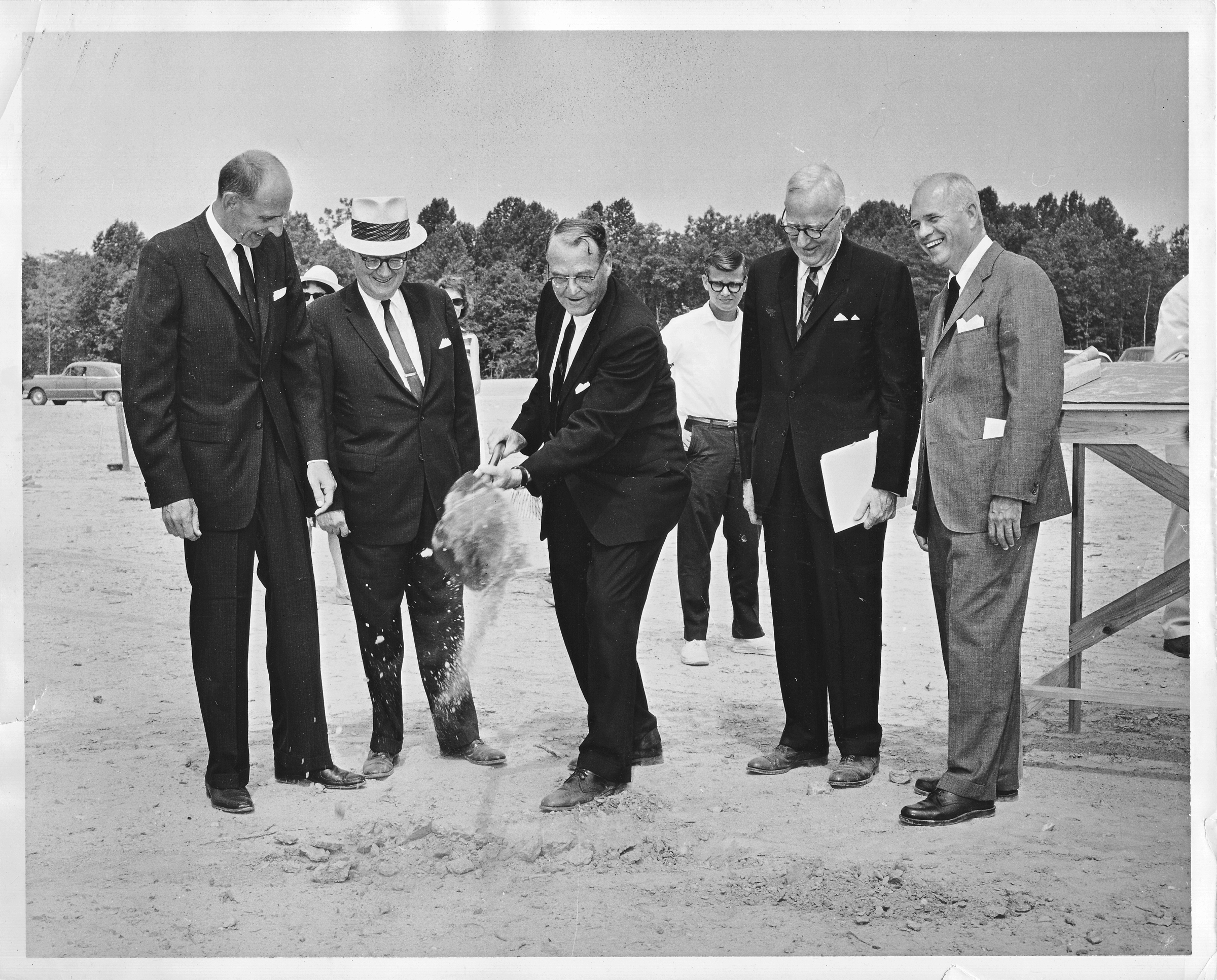 Groundbreaking ceremony for the Fairfax campus, August 1, 1963.