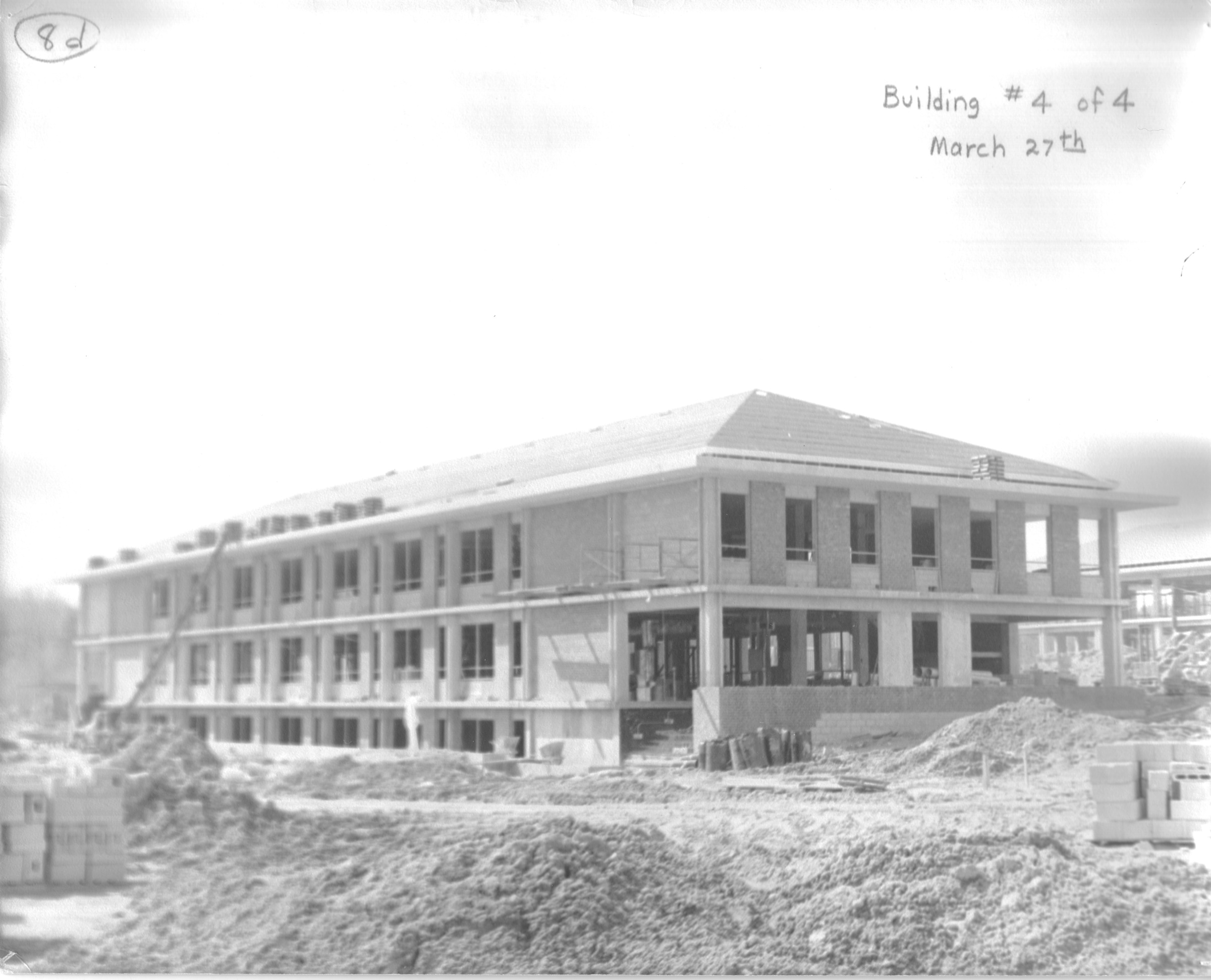 South Building, construction, March 27, 1964