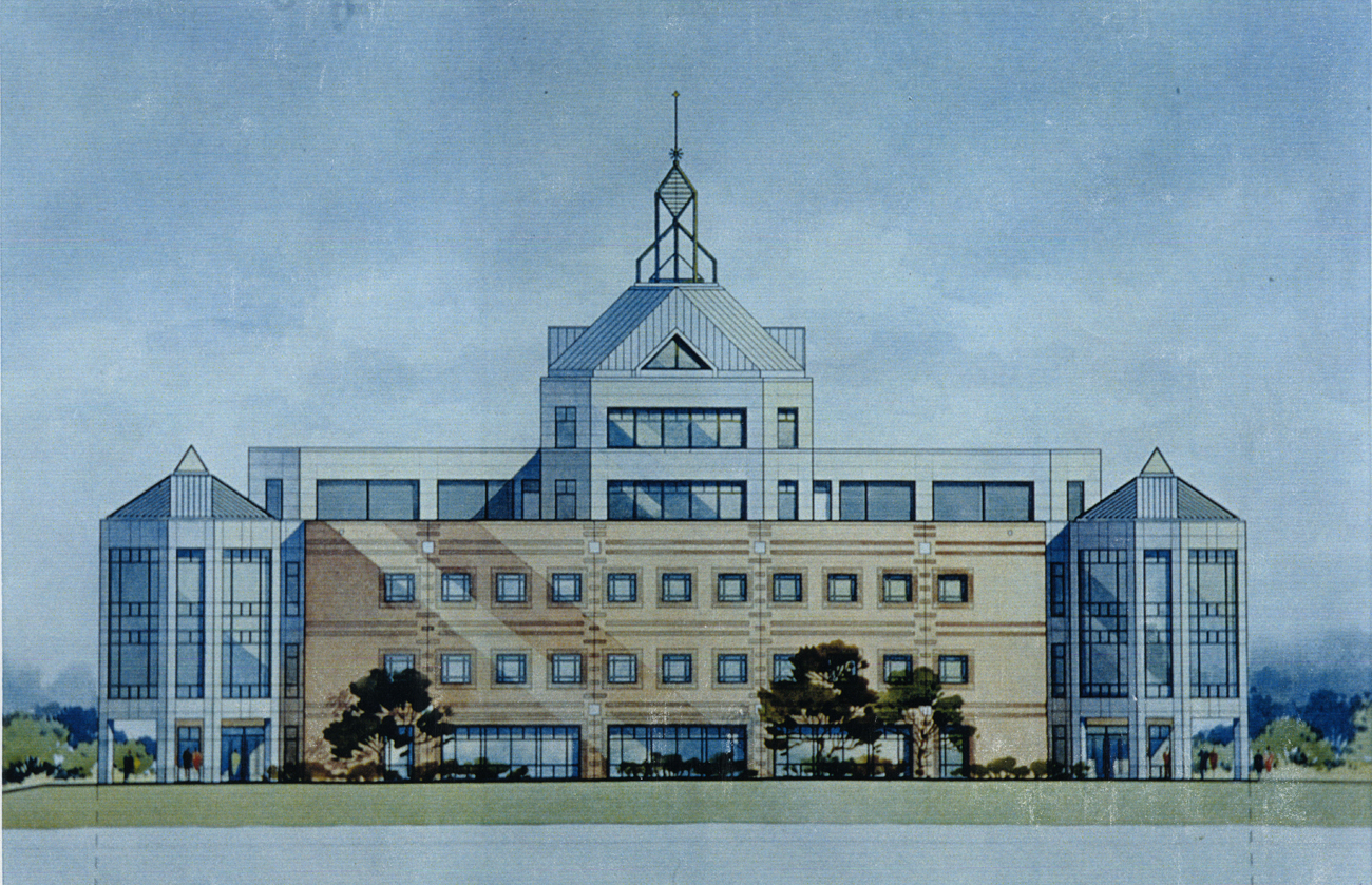 Architectural drawing, University Learning Center, ca. 1992