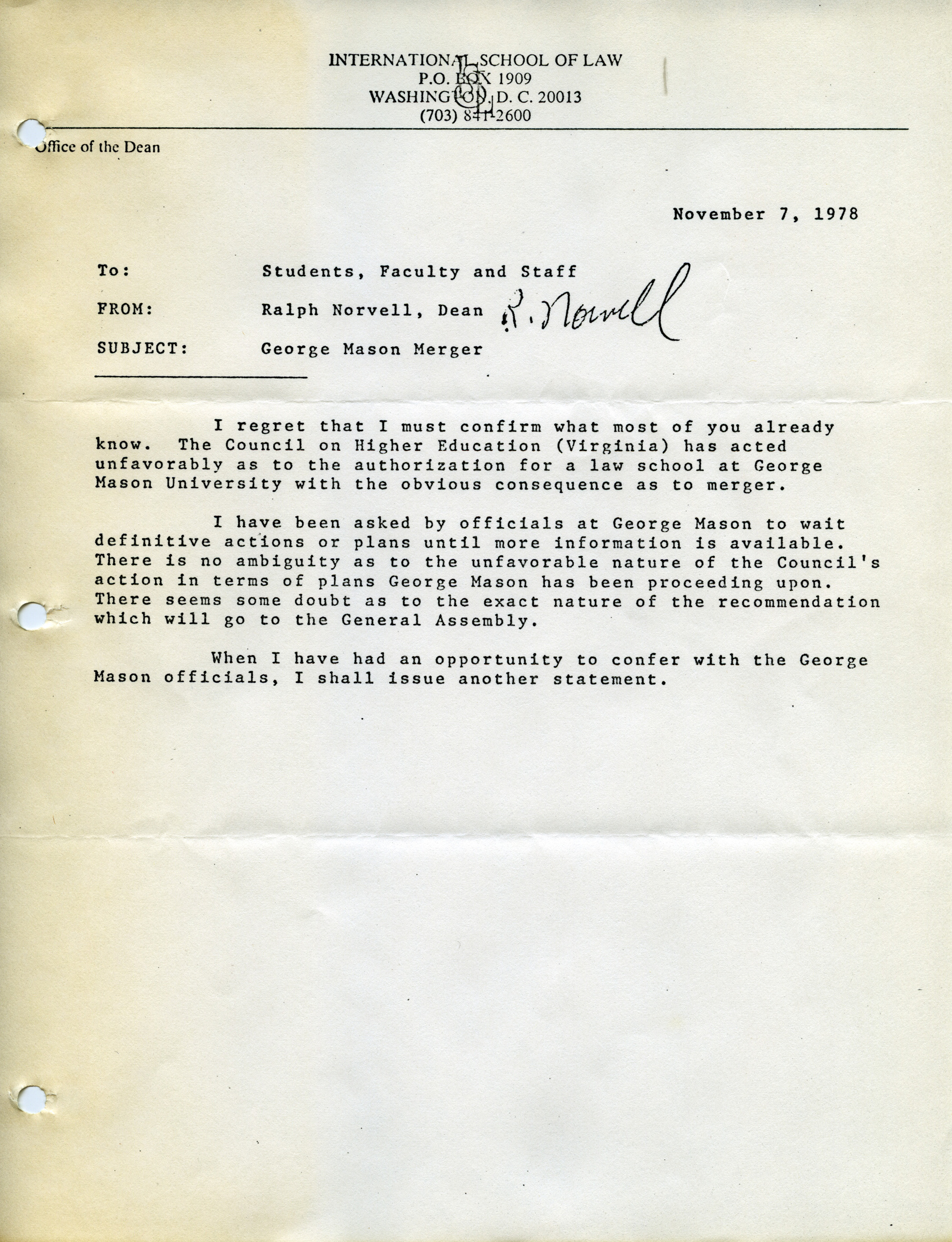 daniel_smith_norvell_to_students_faculty_staff_11_7_1978.jpg
