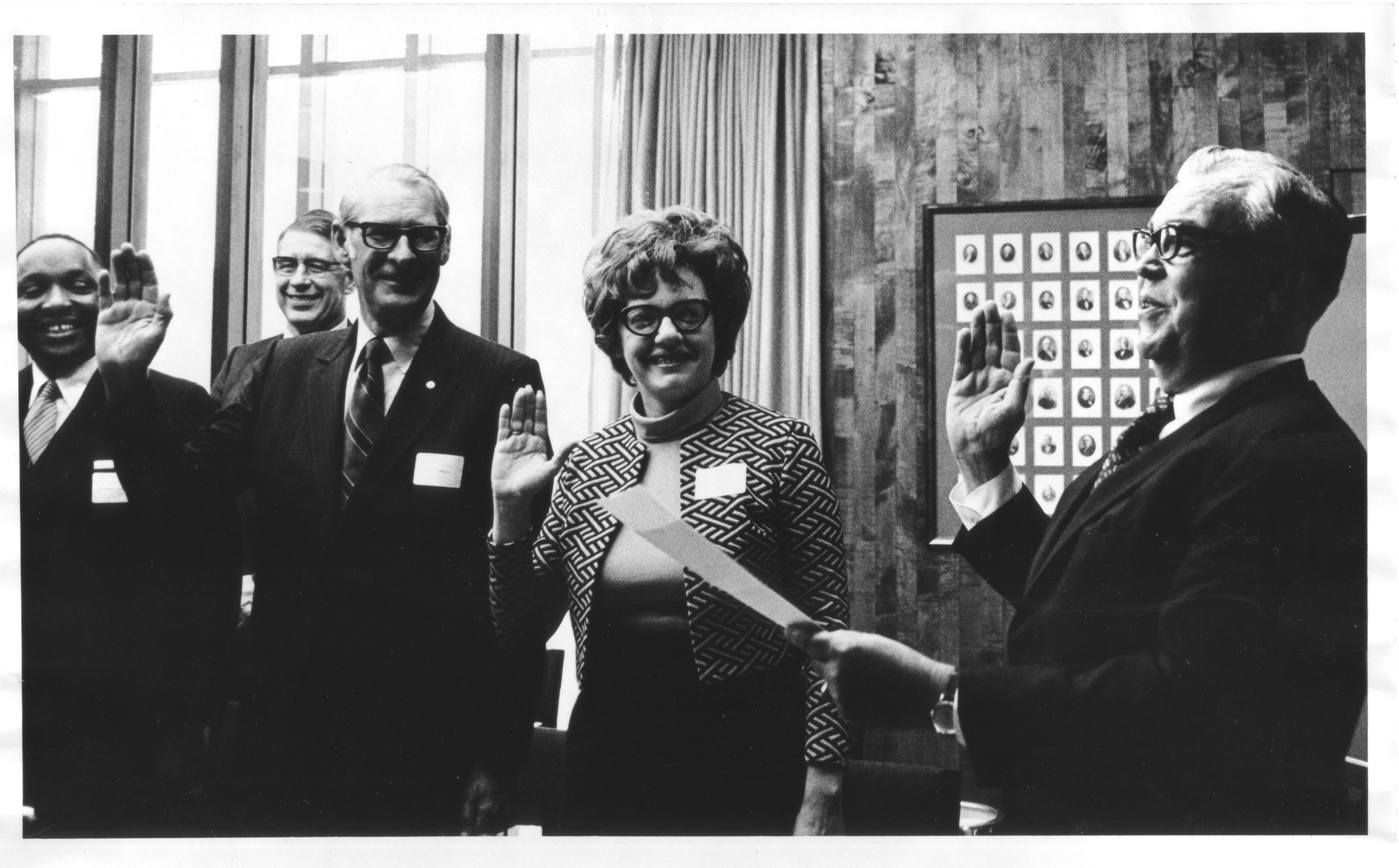 George Mason University Board of Visitors Inaugural Meeting, swearing-in ceremony, May 31, 1972
